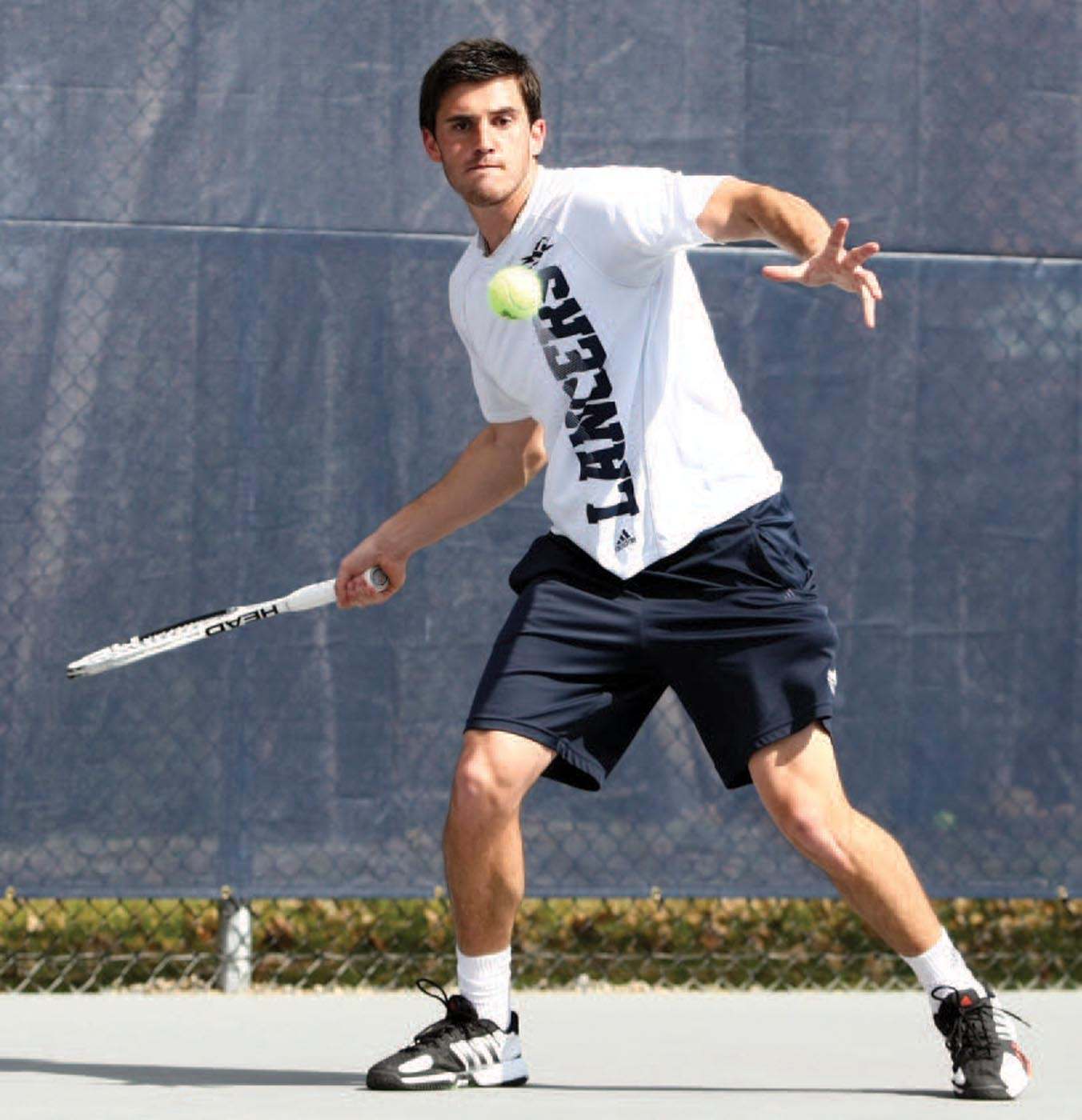 Georgi Khmiadashvili '13 played out of the No. 1 singles position on the men's tennis team.