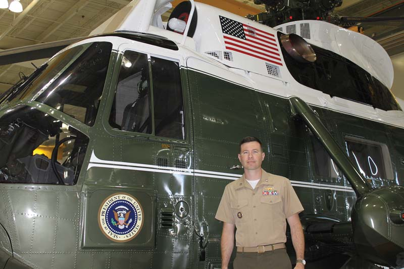 Capt. Patrick Richard '03 is a pilot in Marine Helicopter Squadron One, which provides transportation for President Barack Obama.