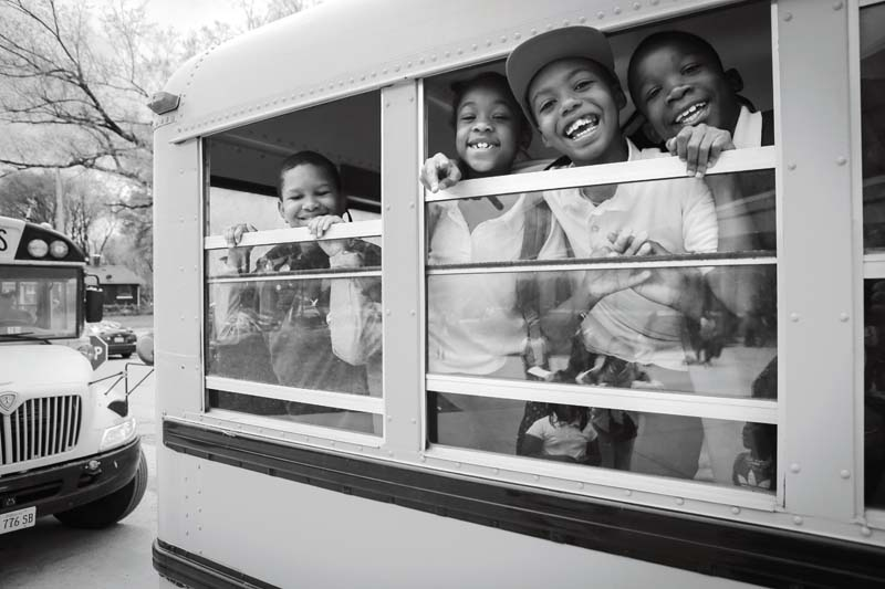 East St. Louis Kids on Bus