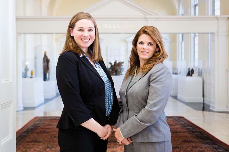 Katherine Buffey Bulifant '13, M.S. '14 (left) and Amy Harris '14