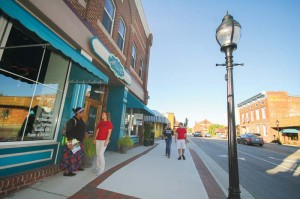 Main Street is home to a wide variety of restaurants, as well as furniture, clothing and gift shops.