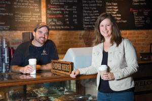 Uptown Coffee Café, opened in 2014  by Jennifer '00 and Jason Mattox, appeals to the college crowd.