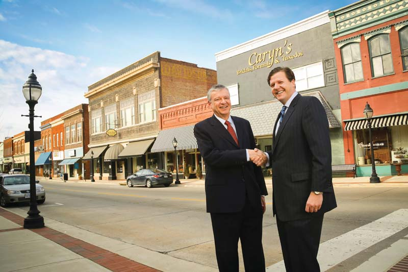 Farmville Mayor David Whitus '83 and Longwood President W. Taylor Reveley IV believe the town and the university  are on the road to a prosperous future.