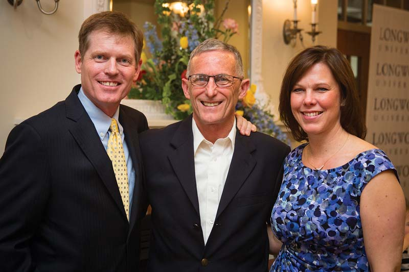 Jason Blount '90 and Carol Wisch Blount '89 created a scholarship in honor of Dr. Wayne  McWee (center), Jason's mentor.