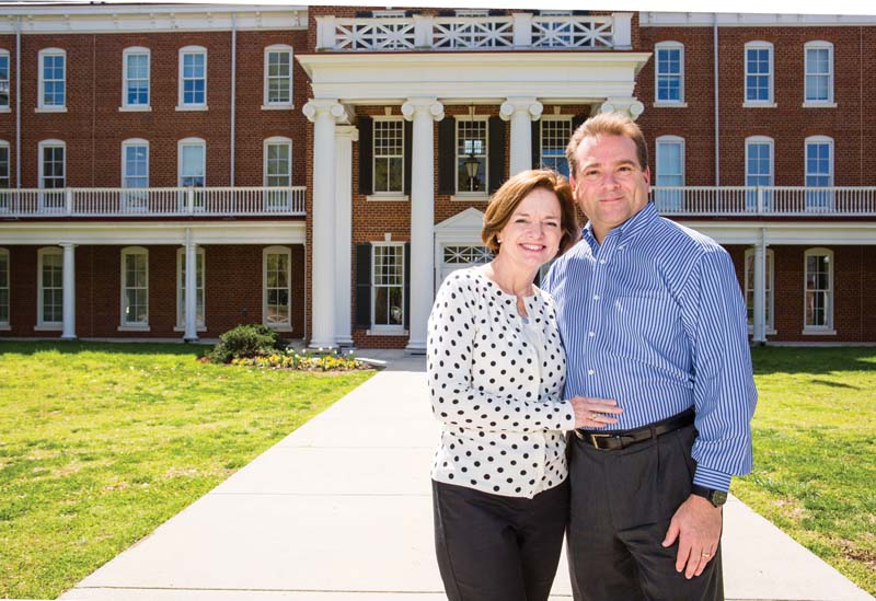 Joan Weidmann Rollins '84 and Duke Rollins '82 remain committed to each other and to Longwood  after more than 30 years.