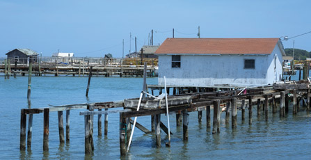 Crab shacks are a common sight onTangier Island, often called the soft-shell crab capital of the world.