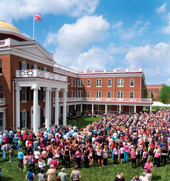 The rededication of Ruffner Hall on April 23, 2005, was a testament to the spirit of the Longwood community.