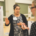 Kayla Stover, M.S. '17, a student in the communication sciences and disorders program, participated in 'Inquiry Across Disciplines.'