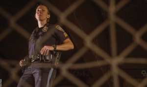 Sgt. Jessica Wilkerson '06 is the only woman on the Roanoke Police Department's SWAT-like Tactical Response Team, which responds to 'high-risk situations.'