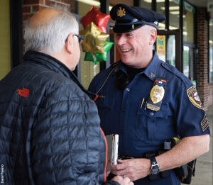 Sgt.Tim Brennan '84, of the East Norriton (Pennsylvania) Police Department, believes in treating the public with respect.