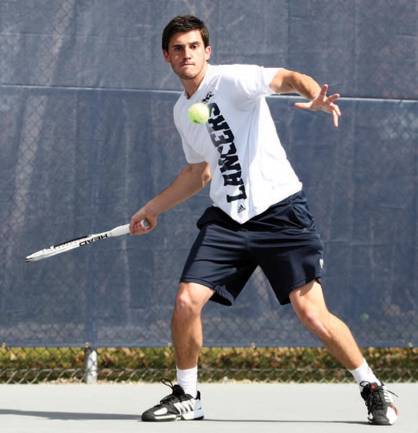 Georgi Khmiadashvili '13 played out of the No. 1 singles position on the men's tennis team.