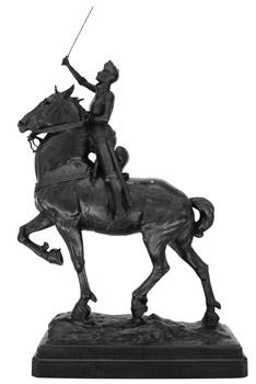 Joanie on the Pony statue