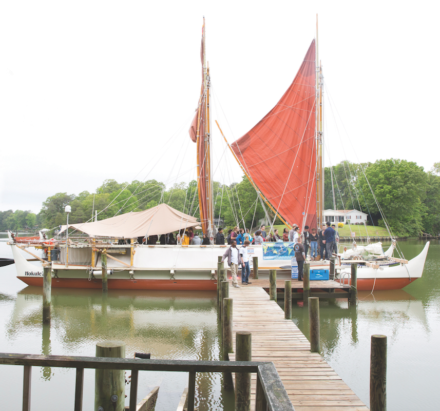 The Hokule'a's visit provided international visibility for Longwood's research and sustainability efforts.