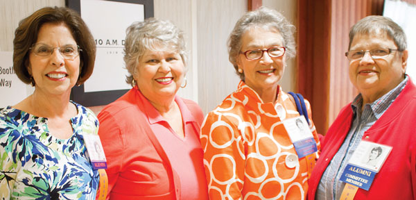 On hand for the Class of 1966 50th Reunion were Linda Bosserman Dodson (left), Carol Robertson Campbell, Sissy Spencer Dunton and Frances Heath Scott.
