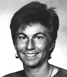 Julie Dayton '81 in a 1992 photo when she was a coach at UVa.